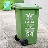 Recycling Wheelie Bin Custom Decals Dustbin Vinyl Stickers New House Number Wall Decorations Window Stickers Wall Decor Wall Stickers Wall Art Wall Decals Stickers Wall Decal Decals Mural Décor Diy Deco Removable Wall Decals Colorful Stickers by Vinyl Concept
