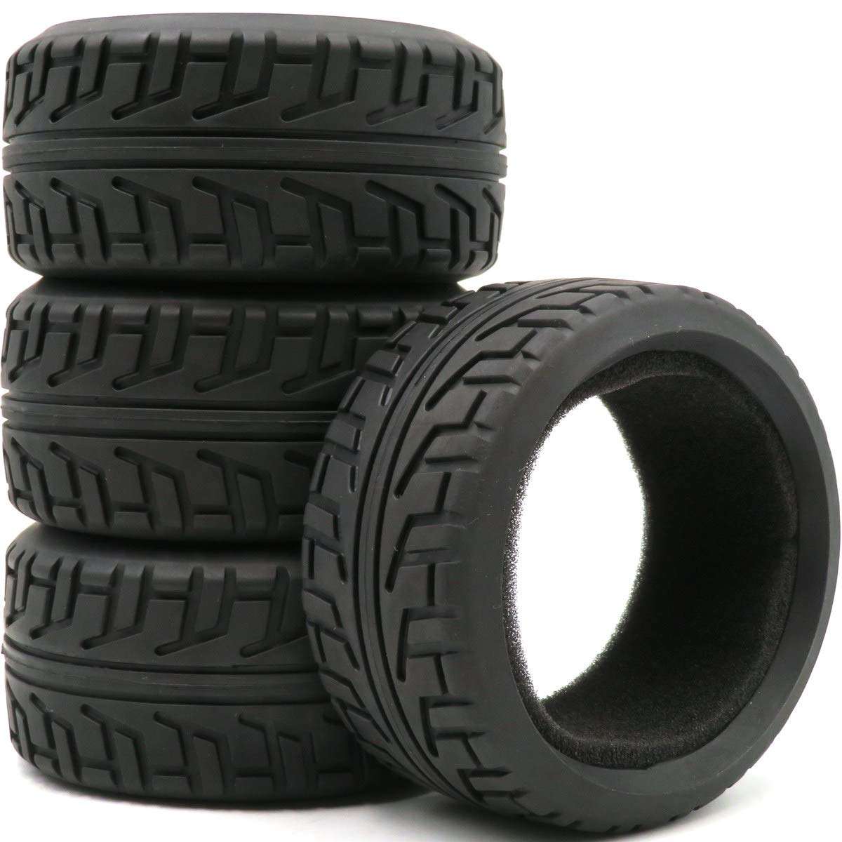 Apex RC Products 1//8 On-Road Black Twist Wheels /& Super Grip Tires Set Of 4 #6022