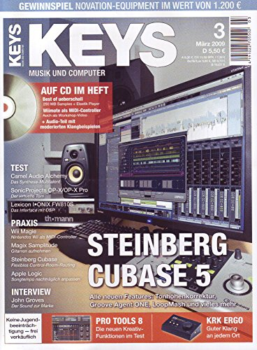 Keys 5 2009 mit CD - Steinberg Cubase 5 aale Features - Best of ueberschall Samples auf CD - Personal Samples - Free Loops - Audiobeispiele