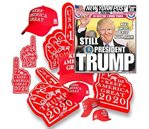 Trump 45 Hat & Trump MAGA Rally Finger (Bundled!)