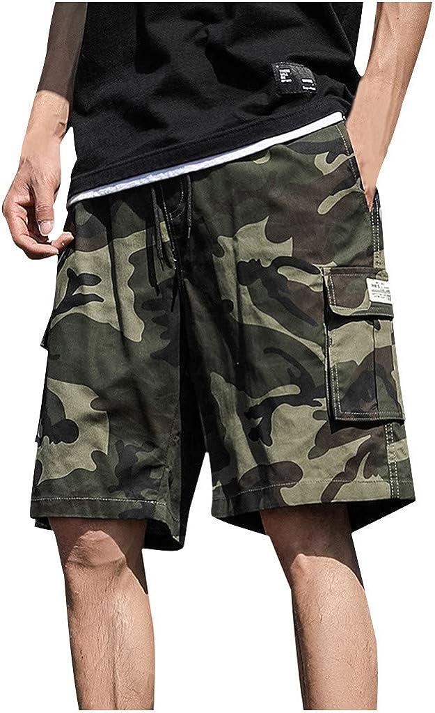 DIOMOR Plus Size Fashion Camo Outdoor Cargo Shorts for Men Casual 9