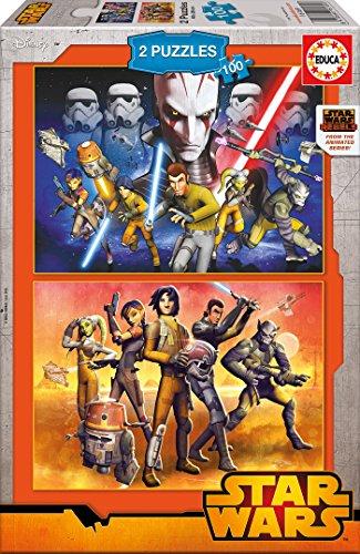 Puzzles Educa - Star Wars Rebels, 2 x 100 Piezas (16169)