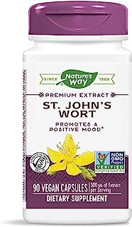 Nature's Way St. John's Wort, Premium Extract, Promotes Positive Mood, Non-GMO, 90 Capsules
