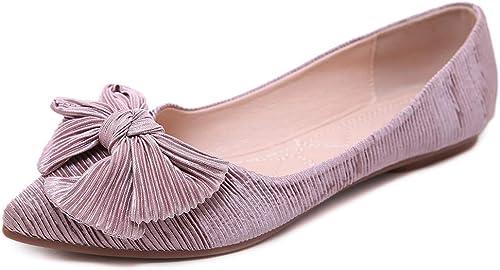 LXJL Chaussures pour Femmes avec Talon Bas Robe Robe Bouche Peu Profonde Chaussures Pointues,c,42