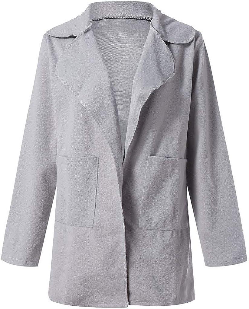 Womens Fuzzy Fleece Jackets Loose Open Front Hooded Cardigan Coats Outwear Pockets