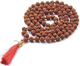 HealthGoodsAU - Meditation/Japa Rudraksha Mala with 108 + 1 Beads (8-9 mm Sized Beads) - Pack of 1 Mala