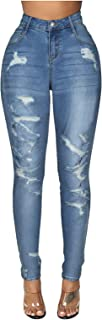 LANSKRLSP Mujer Vaqueros Acampanados Pantalones Largos Elástico Cintura Alta Retro Flared Jeans