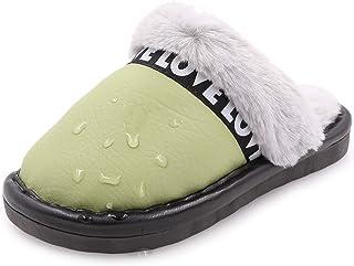 Toddler Boys Girls Slippers Fluffy Fur Little Kids House Slippers Warm Plush Slip On Non Slip Bedroom Indoor Outdoor Home ...