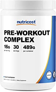 Nutricost Pre-Workout Complex Powder Blue Raspberry (30 Serv)