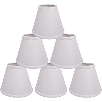 BALLARD DESIGN CHANDELIER SHADES LAMPSHADE Lot Set of 5 CREAM LINEN CLIP ON NEW