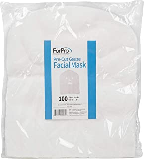 For Pro Precut 100% Cotton Gauze Facial Mask, 100 Count