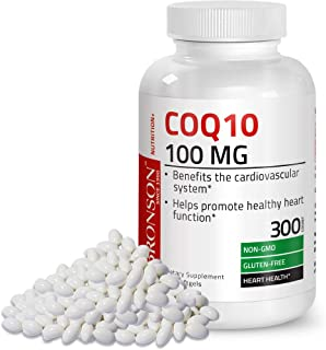 Premium CoQ10 100mg (CoEnzyme Q-10) - Gluten Free Non GMO - Antioxidant Support - Heart Health, Cellular Energy, Cardiovascular System Health Support - 300 Softgels