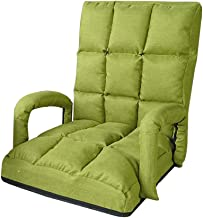 Office Chairs Foldable Lazy Lounge Sofa Floor Chair with Armrest Adjustable Backrest Single Bay Window Relaxing (green) fo...