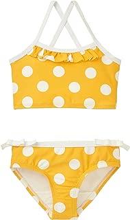 yellow polka dot bikini for girls