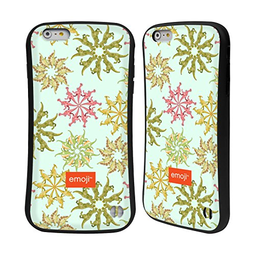 Head Case Designs Oficial Emoji Flores Dinosaurios Carcasa híbrida Compatible con Apple iPhone 6 Plus/iPhone 6s Plus