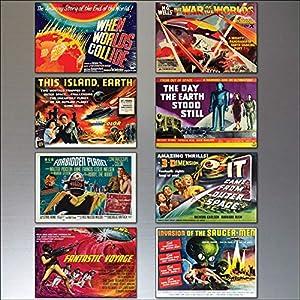 Classic B Movie Film Poster Kühlschrankmagnete – Set von 8 großen Kühlschrankmagnete No.4