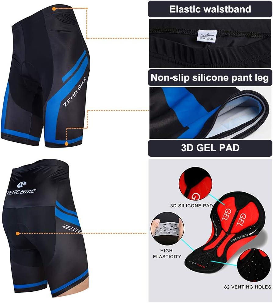 Outdoor Kurzarm Radsport-Shirt Herren Atmungsaktiv Schnelltrocknend Fahrradtrikot Set 3D Gel Gepolsterte Kurze Hose Fahrradhose