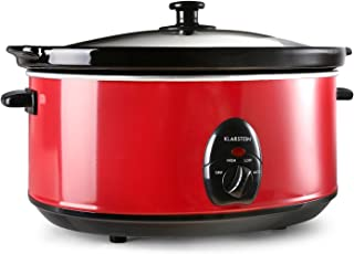 Klarstein Bristol 65 Mijoteuse electrique (6,5 L, 300W, 2 températures, céramique lavable, méthode Schongar, alimentation ...