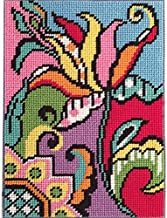 Abstract Arts Cats Hand Painted Design Printed Needlepoint Canvas A0052 14CT Mono Deluxe,14 X 18