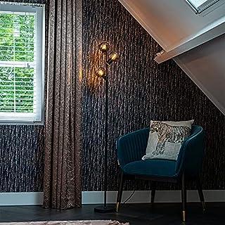 Qazqa Lampadaire | Lampe sur pied Art Deco - Vidro Lampe Noir - E14 - Convient pour LED - 3 x 25 Watt