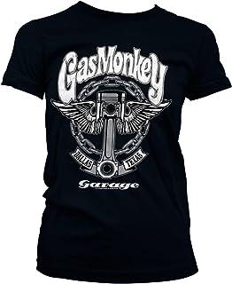 Gas Monkey Garage Oficialmente Licenciado Big Piston Mujer Camiseta