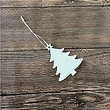 Longzhuo Calendario de Adviento para rellenar niños 2020, adornos colgantes de madera natural, 10 unidades / Set DIY DIY DIY DIY DIY DIY DIY DIY decoración de madera de Navidad