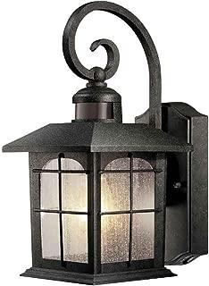 Home Decorators Brimfield Aged Iron Motion-Sensing Outdoor Wall Lantern 592082