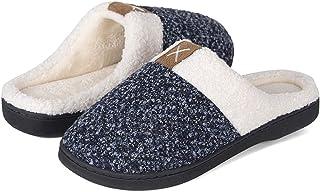 IceUnicorn Pantoufles Femme Maison Homme Chaude Hiver Confortables Mémoire Peluche Chaussures Intérieur Antidérapant Chaus...