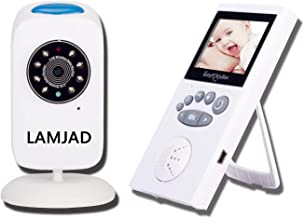 Baby Monitor with Camera, LAMJAD Video Baby Monitor with 960ft Transmission Range, Infrared Night Vision, Two Way Talk, VOX, 5 Lullabies, HD Display, Temperature Sensor, High Capacity Battery