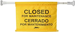 "Janico 1076 Closed for Maintenance Safety Sign, Expands up to 52"", Bilingual, Yellow"