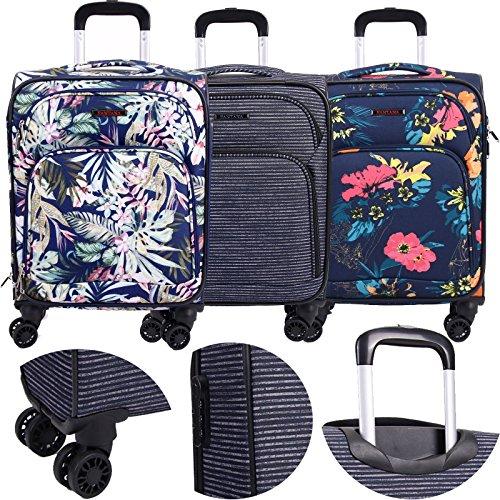 FANTANA, Koffer Blau blumenmuster 18