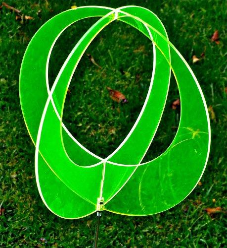 LISA frank boule de jardin en 2 parties vert 9,5 cm avec 50 cm-manche en métal-vitrail/suncatcher