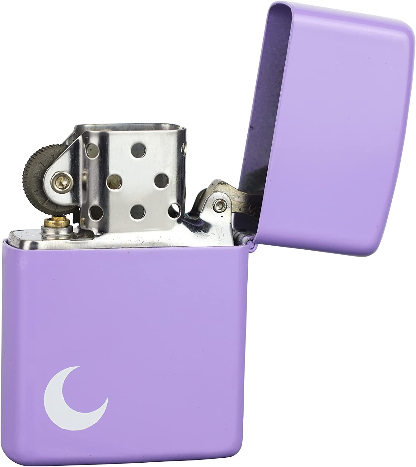 Antique Style Metal 25% OFF Flip Top Lighter Engraved - with Sale Special Price R Moon Pink