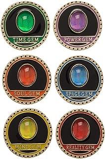 Infinity Gauntlet 6 piece collectible lapel pin set