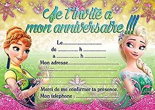 Amazon Fr La Reine Des Neiges Invitations Décorations