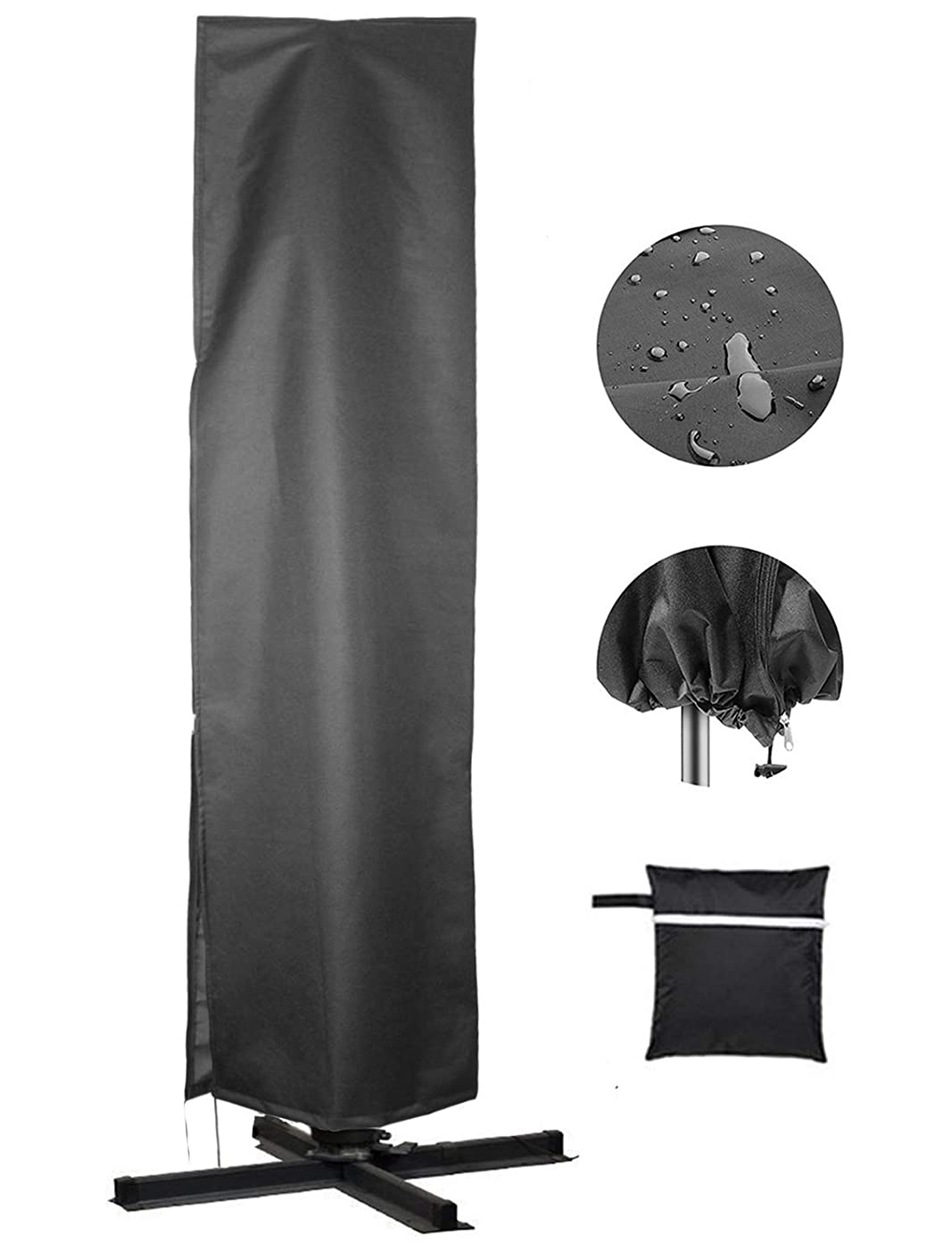 反抗ハッチ材料カバー パラソル 防水 防塵 防風 直径270cm~400cmの屋外パラソル用