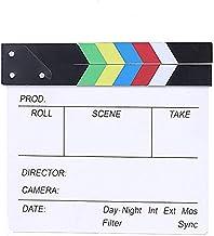 BERON Professional Vintage TV Movie Film Clap Board Slate Cut Prop Director Clapper (Colorful)