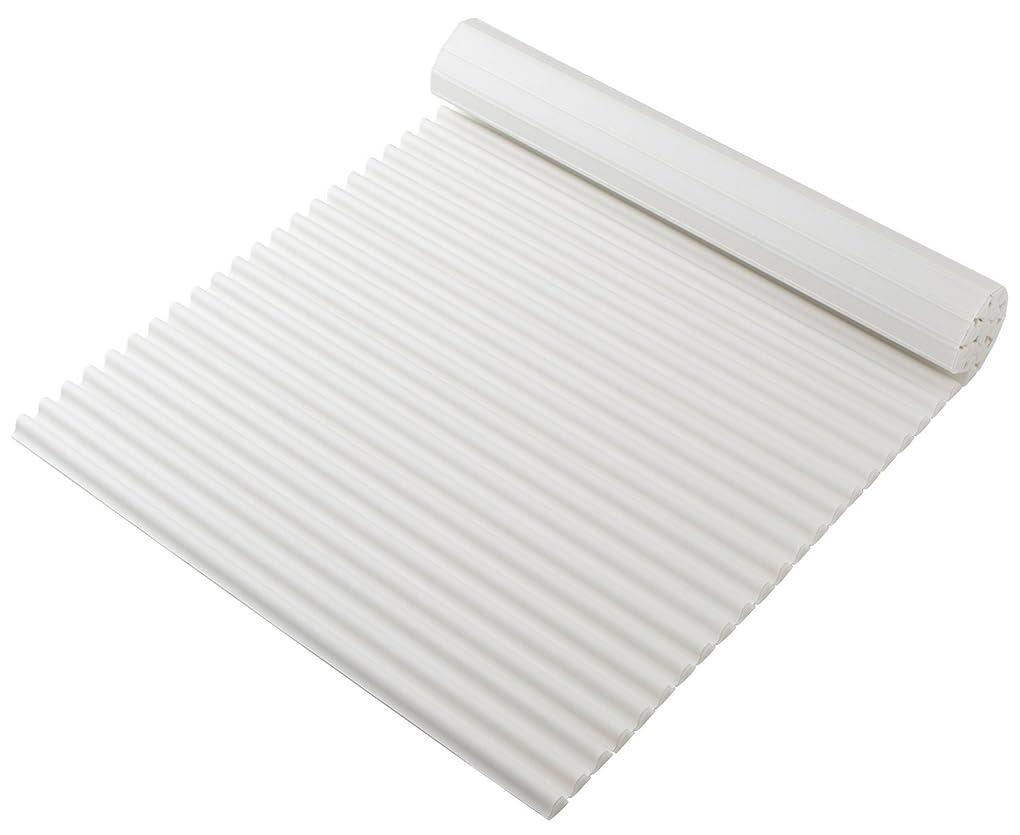 水バングラデシュ北東プレ 抗菌タイプ シャッター式風呂ふた カラーイージーウェーブ 75×160cm ホワイト L16