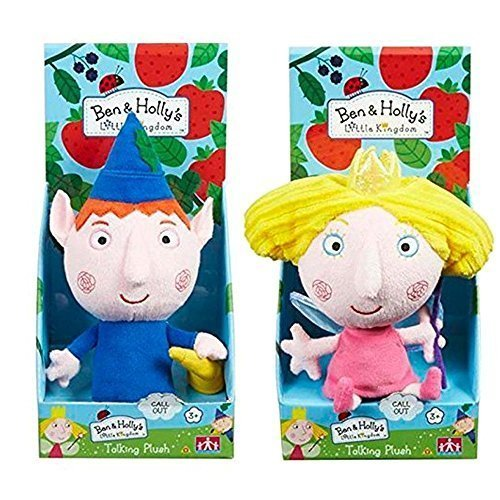 Ben & Pequeño Reino de Holly 18cm Talking Soft Peluches (English Version)