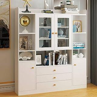 YaGFeng Estantería Simple White Asamblea Estante De Visualización Almacenamiento De Oficina Muebles De La Sala De Estar Unidad para el hogar Oficina Librero (Color : B, Size : 123X24X160CM)