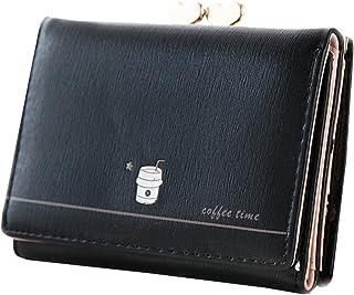 ミニ財布 レディース 人気 小さい 三つ折り 財布 がま口 カワイイ 金運アップ コンパクト ウォレット カード小銭入れ 女性用 プレゼント 多機能 大容量 3カラー ピンク ブラック ブルー
