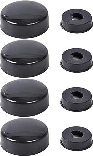 beler Schwarz Kennzeichen Schraube Kappe Abdeckung für Nummernschild Rahmen Verschluss (4er Set)