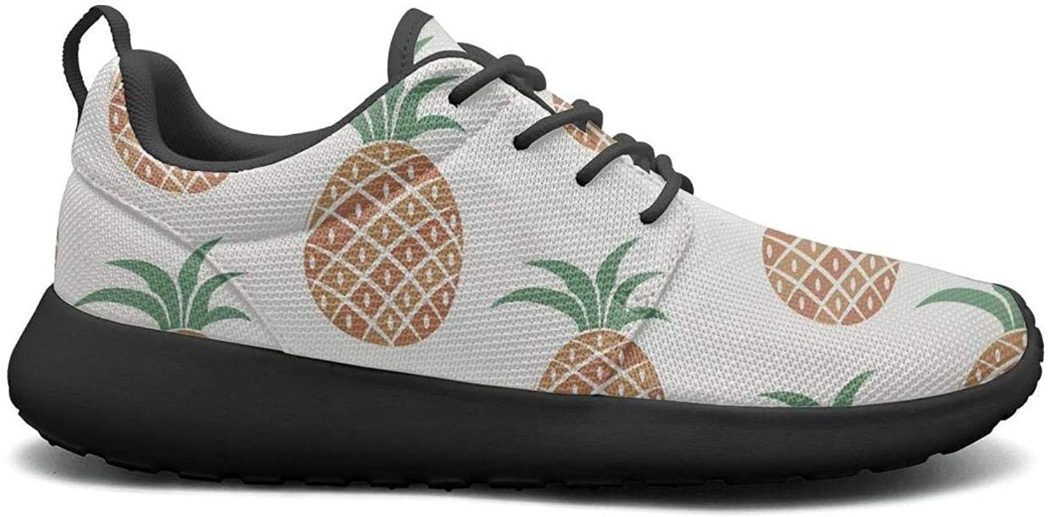 Gjsonmv Pineapple Fruit mesh Lightweight shoes for Women Comfortable Sports Tennis Sneakers shoes