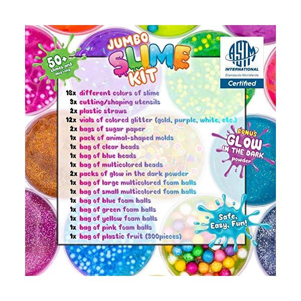 DIY Slime Kit Toy for Kids Girls Boys Ages 5-12, Glow in The Dark Glitter Slime Making Kit - Slime Supplies w/ Foam… 5