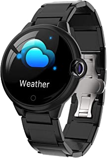 JHHXW Smart Watch, 1.22 Inch Screen, Fitness Tracker, Sports Pedometer Bracelet, IP67 Waterproof, Message Push, Smart Remi...