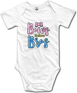 Bows Before Bros Cute Unisex Baby Bodysuits Short-Sleeve Onesies Romper Outfits Jumpsuit