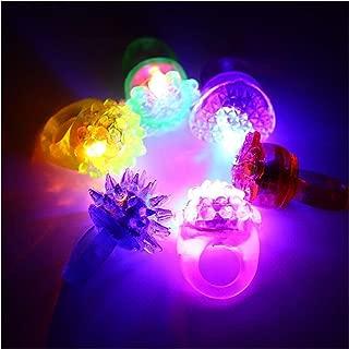 Boda 36 Pcs Anillo de dedo Intermitente Luz del Anillo del dedo LED Juguete Diamante Brillante Persona Soltera Concierto Mezcla de colores Fiesta de cumplea/ños Bar Accesorios exclusivos
