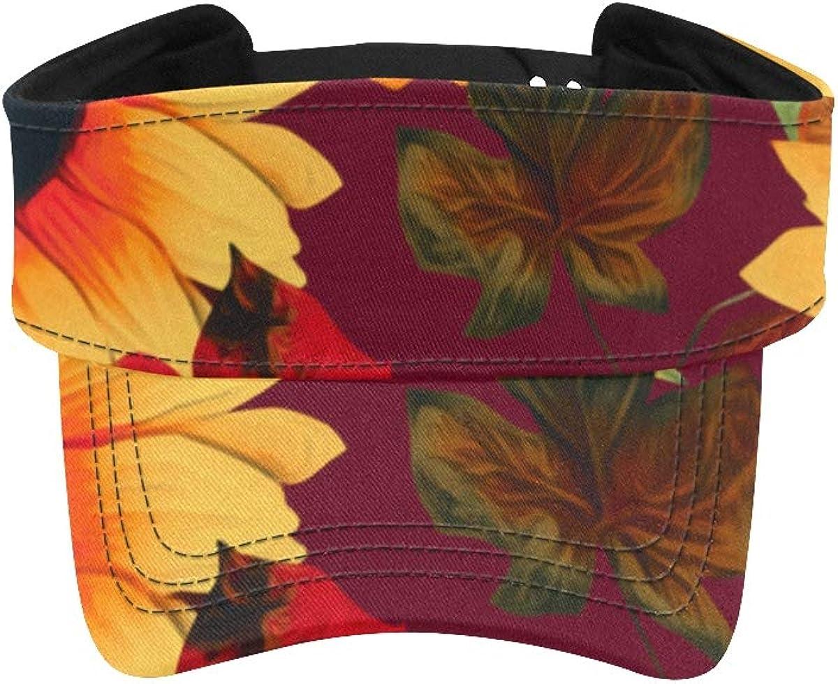 Mens Visor shipfree Hat Happy and Beautiful Hats Sunflower Running Cheap