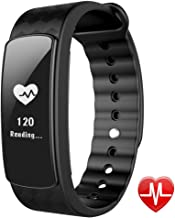 Lintelek Smart Watch Heart Rate Monitor, Fitness Activity Tracker Band Waterproof Health Sleep Monitor Pedometer Calorie/Step Counter Android iOS