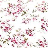 Diseño de flores de rojo Contacto Papel autoadhesivo cajón estante maletero extraíble Peel y Stick - Papel pintado para estantes cajón muebles de pared decoración 45 x 1000 cm